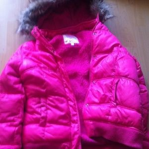 Never Worn Girls Size XL Pink Justice Winter Coat